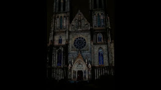 Signal Festival Prague 2016 - Video projection - Namesti Miru (kostel sv. Ludmily)