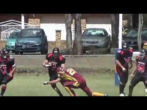 Josh Hayward tackle at safety, American Football (gridiron)