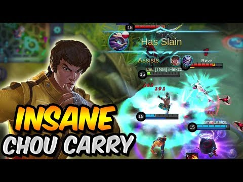 THE MOST INTENSE CHOU GAME AND CARRY EVER - Mobile Legends