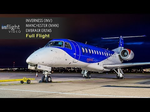 Loganair/BMI Regional Full Flight: Inverness to Manchester - Embraer ERJ 145 (with ATC)