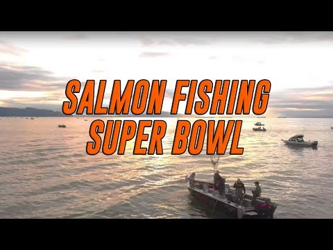 THE SUPER BOWL OF SALMON FISHING!! (LOTS OF FISH CAUGHT)