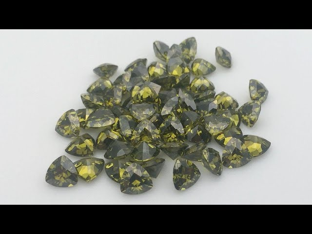 Cubic Zirconia Peridot color Pear Shape Gemstones China wholesale