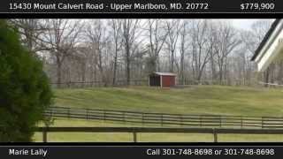 Southern Maryland / Upper Marlboro Horse Farm Property for Sale - Barns, Tenant House, MORE!