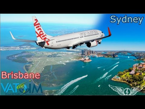 PMDG 737 NGX flies Brisbane to Sydney on Vatsim Milkrun