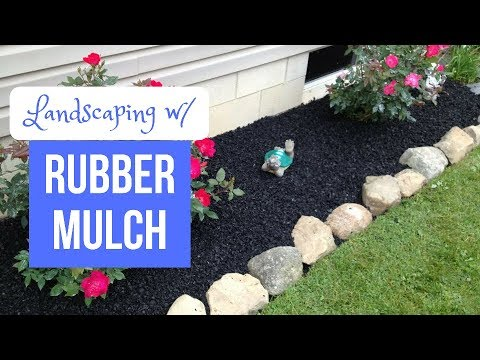 Landscaping with Rubber Mulch YouTube