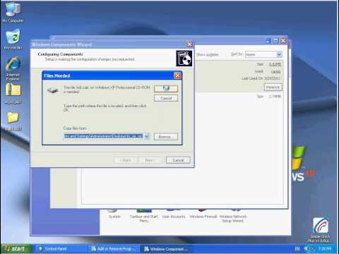 How To Setup IIS windows XP