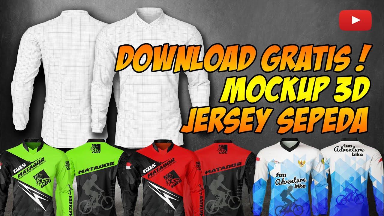 Harga murah di lapak js47 store. Gratis Mockup 3d Jersey Sepeda Psd Easy Editable Youtube