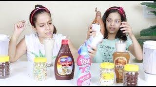 تحدي التوأم بالميلك شيك 👩👧 🥛🥛! Twin Telepathy Milkshake Challenge