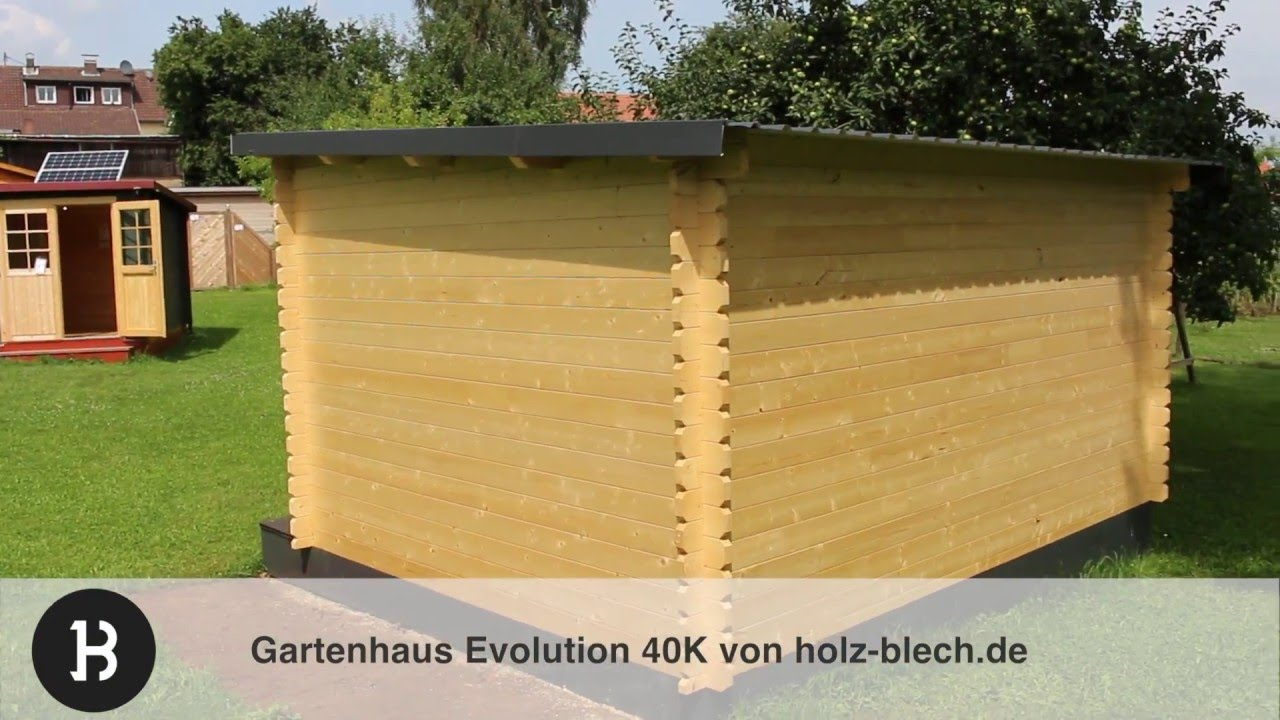 gartenhaus evolution 44 vorstellung holz youtube. Black Bedroom Furniture Sets. Home Design Ideas