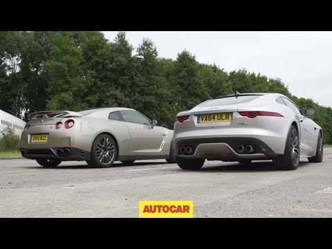 Nissan GT-R versus Jaguar F-Type R AWD Coupé Drag Race