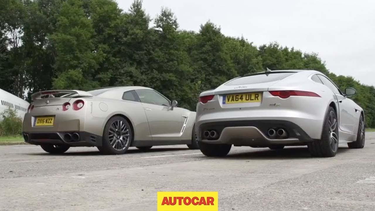 画像: Nissan GT-R versus Jaguar F-Type R AWD Coupé Drag Race youtu.be