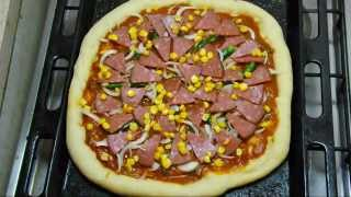 How To Make Pizza - Recipe In Tamil Part Ii Pizza Sauce & Toppings