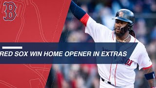 Red Sox stage a comeback to win home opener in the 12th