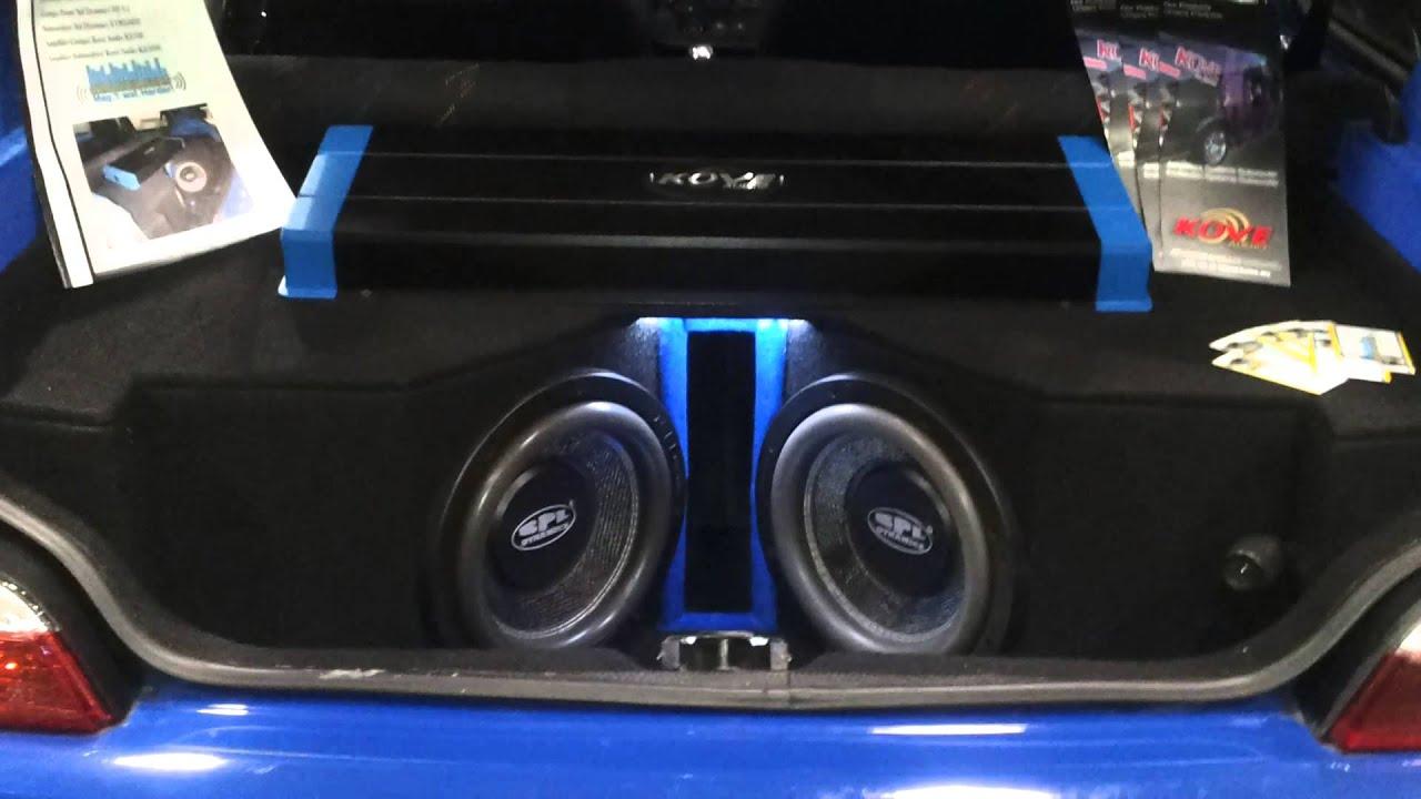 Hifonics Auto Lautsprecher 300 Watt Nachr/üstung f/ür Ihren Peugeot 106 5 t/ürer ab 09//92 Einbauort vorne T/üren // hinten
