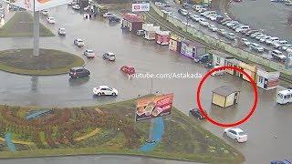 Astakada Владивосток Луговая Уплыл ларёк 9 ноября 2018 Сильный дождь