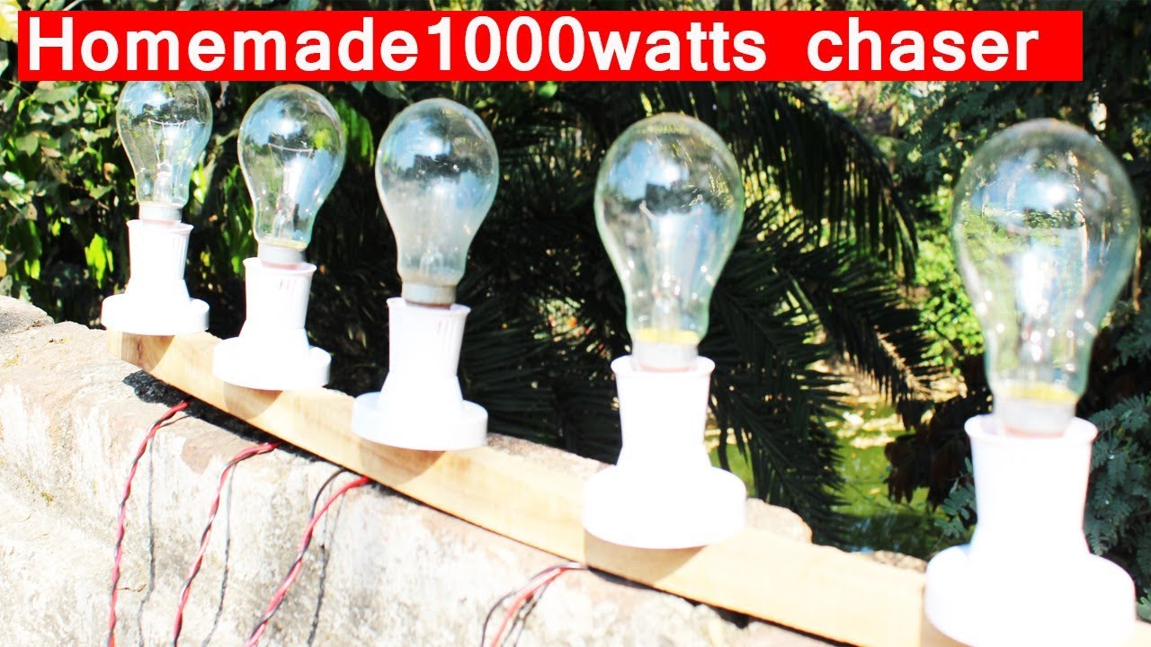 How To Make A 230v Led Chaser 1000 Watts Each Channel Diy Youtube 8 Light Using 8051