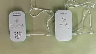 Willcare Portable Digital Audio Baby Monitor 1000ft Range