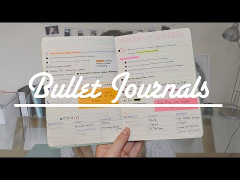 How I set up my Bullet Journal