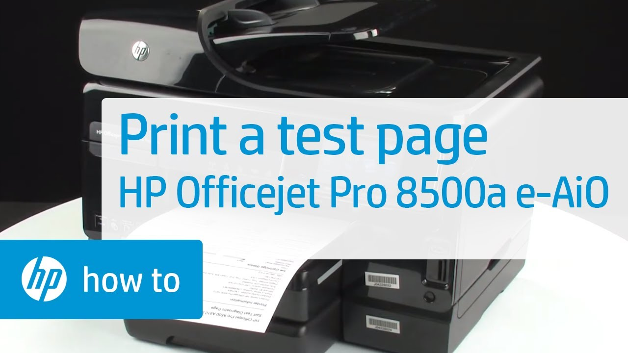 printing a test page hp officejet pro 8500a plus premium e all