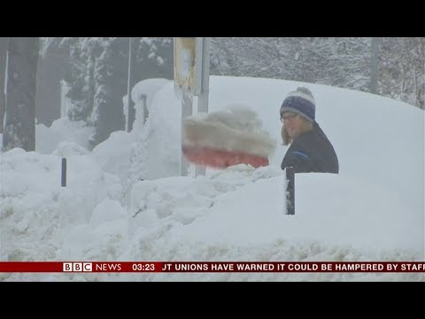 Extreme Weather 2019 - Heavy Snow (Germany & Austrian Alps) - BBC News - 8th January 2019