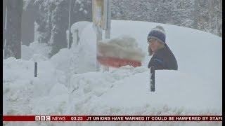 Extreme weather 2019 - Heavy snow (Germany & Austrian Alps) - BBC News - 8th January 2019