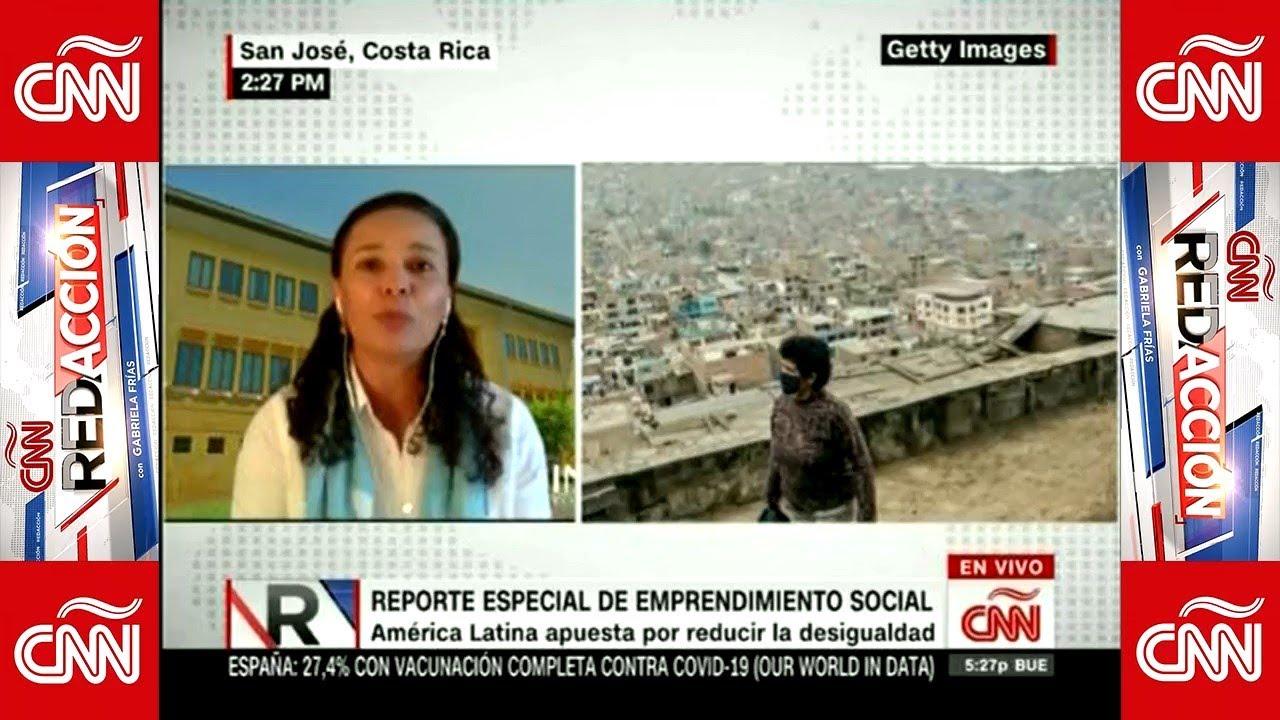 Profesora Andrea Prado presentó en CNN resultados de estudio de emprendimiento social