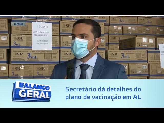 Vacinação em Alagoas: Secretário dá detalhes do plano de vacina