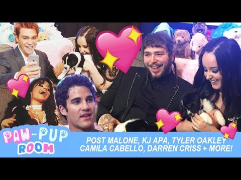 Post Malone, KJ Apa, Camila Cabello + MORE! | PUPPY ROOM @ 2017 MMVAS