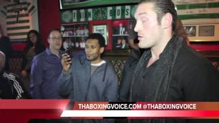 TYSON FURY IN HEATED ARGUMENT WITH NAZIM RICHARDSON