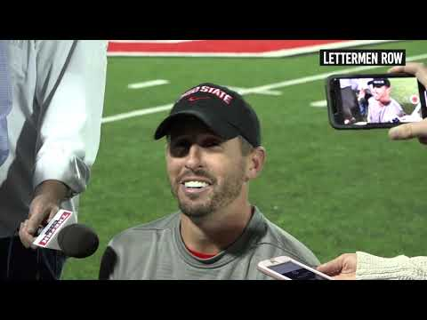 Brian Hartline: Ohio State wide receivers coach talks about Buckeyes WR's - October 17, 2018