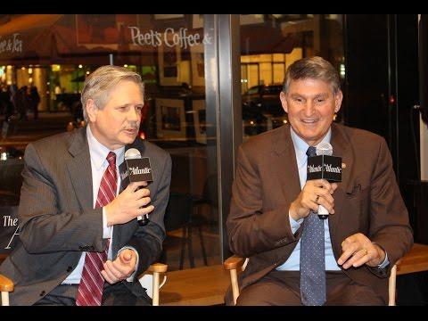 Senators Joe Manchin and John Hoeven with The Atlantic's Steve Clemons / Atlantic After Hours