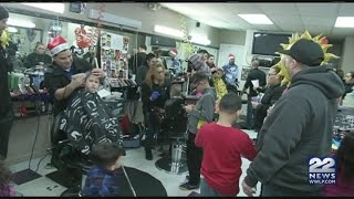 Local barbershop offered free haircuts to kids