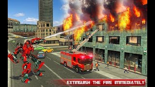 Fire Truck Real Robot Transformation: Robot Wars (By Roadster Inc) Android Gameplay HD