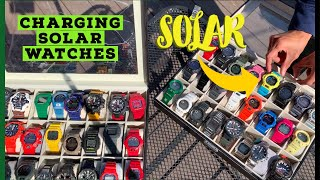 How to Charge Your Solar Watch - Proper Solar Charging Etiquette - Charging My Solar G-Shock Watches