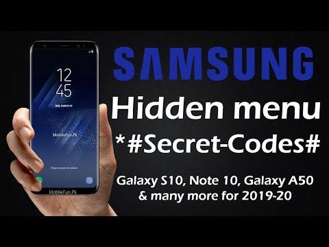 All Samsung Galaxy Secret Codes and Hacks, Hidden Menu 2019-20