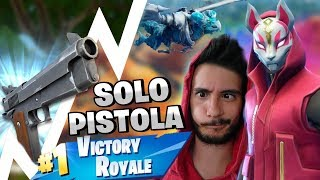 PISTOLET SOLO BIANCA! VITTORIA REALE ⛏️ Fortnite Battle Royale-Pazzox