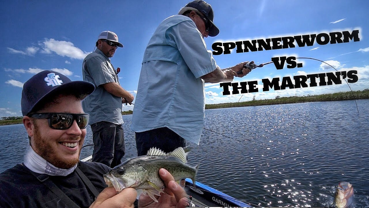 Surprise outcome spinnerworm vs martins bass fishing for Roland martin fishing