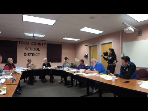 Todd County School Board Meeting Monday 2/12/18