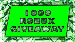 1000 ROBUX GIVEAWAY! | ROBLOX LIVE STREAM! | Road To 2000 Subs :)!!!