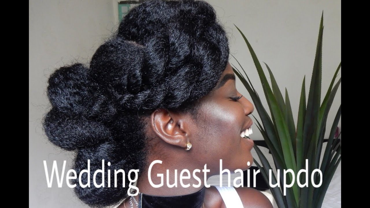 Hair Styles For Short Hair For Wedding Guest: Wedding Guest Hair Updo // Natural Hair 4C