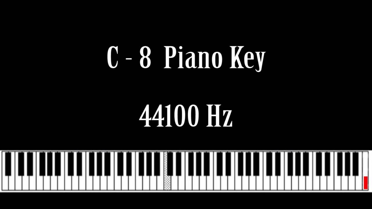 C - 8 Piano Key Note Sound Effect Free High Quality Sound FX
