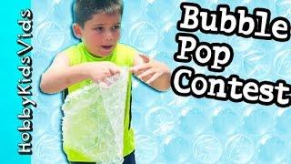 bubble wrap contest pop air paper bubbles chocolate surprise eggs for winners hobbykidsvids