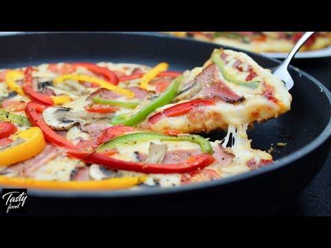 ПИЦЦА НА СКОВОРОДКЕ с Тестом Как в Пиццерии! Такой Пиццы Вы Еще Не Пробовали!