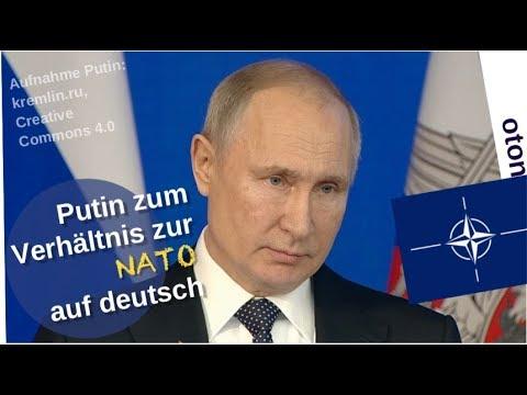 Putin zum Verhältnis zur NATO auf deutsch