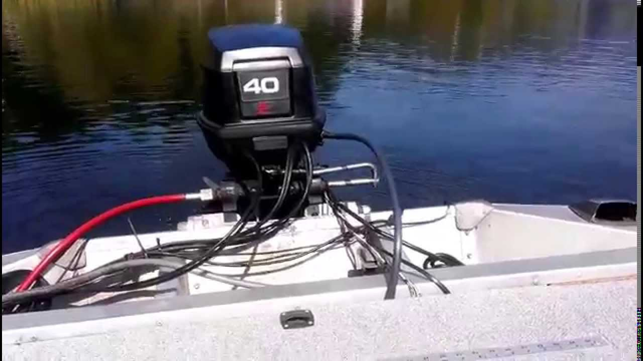 1989 Evinrude 40 hp  YouTube