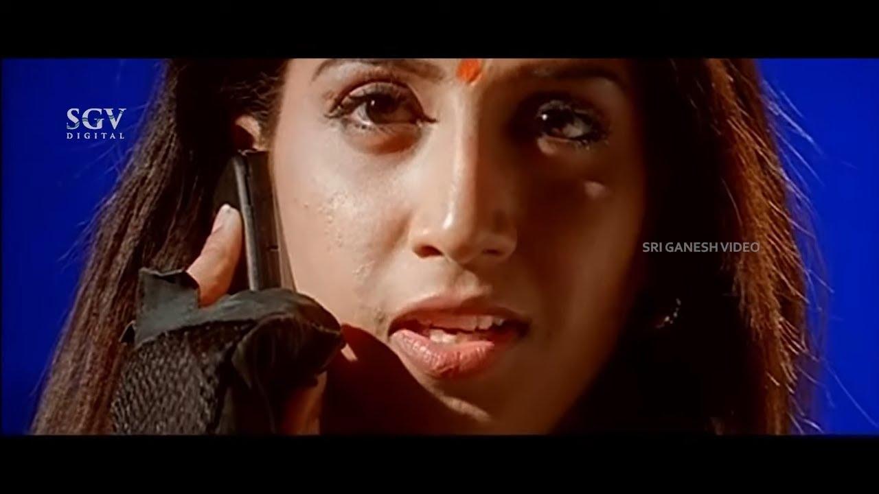 Lady Intelligently Traps Rowdy in Sexy Voice | Obavva Kannada Movie | Part-6
