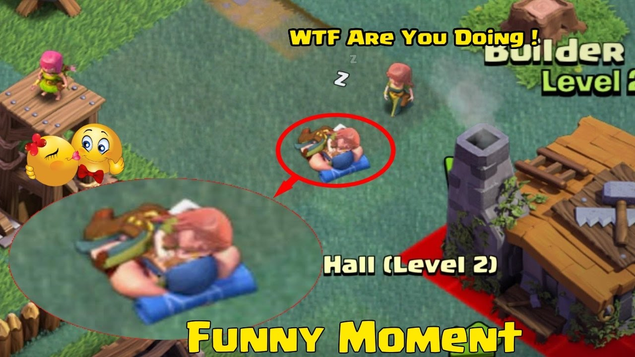 clash of clans builder base funny moments new update trolls