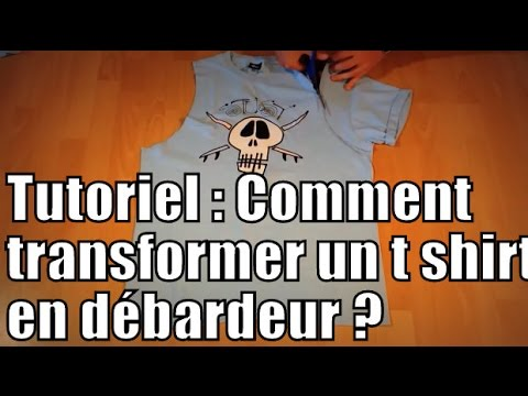tutoriel comment transformer un t shirt en d bardeur diy how to turn a t shirt into a tank. Black Bedroom Furniture Sets. Home Design Ideas