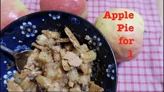 Apple Pie for 1 in a Hurry! (vegan!)