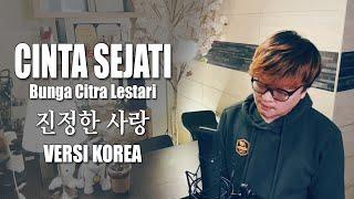 Cinta Sejati   Bunga Citra Lestari (BCL)   OST Habibie Ainun   VERSI KOREA Cover by Kanzi (LIRIK)